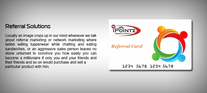 iPointz Referral Program   On Demand NFC supported Mobile